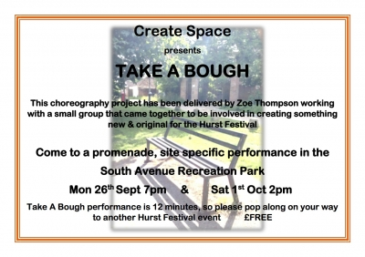 Image for Take a Bough - Dance Performance Monday 26th 7pm